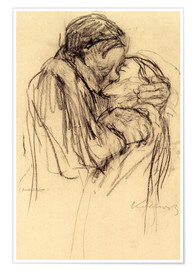 Póster  The kiss - Käthe Kollwitz