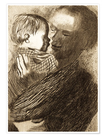 Póster  Mother with Child in her arms - Käthe Kollwitz