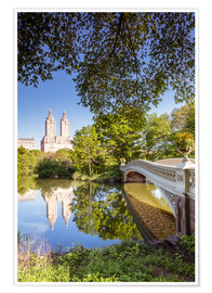 Póster  Famous bow bridge in Central Park, New York city, USA - Matteo Colombo