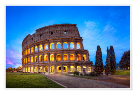 Póster  The Colosseum in Rome, Italy - Jan Christopher Becke