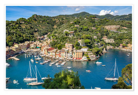 Póster Harbor of Portofino in Liguria, Italy