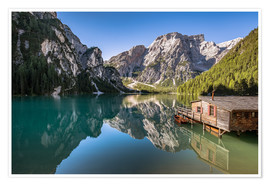 Póster Braies Lake, Dolomites, South Tyrol