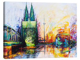 Lienzo  Cologne Cathedral Skyline colored - Renate Berghaus