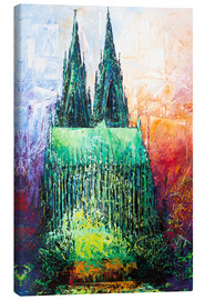 Lienzo  Cologne Cathedral Abstract - Renate Berghaus