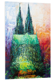 Cuadro de PVC  Cologne Cathedral Abstract - Renate Berghaus