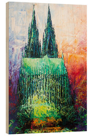 Cuadro de madera  Cologne Cathedral Abstract - Renate Berghaus