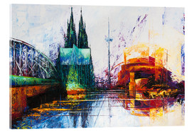 Metacrilato  Cologne Cathedral Skyline - Renate Berghaus