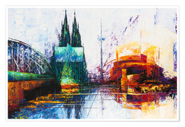 Póster  Cologne Cathedral Skyline - Renate Berghaus