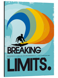 Aluminio-Dibond  Retro Surfer Design breaking limits art print - 2ToastDesign