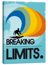 Lienzo  Retro Surfer Design breaking limits art print - 2ToastDesign