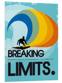 Cuadro de PVC  Surfero, Breaking limits - 2ToastDesign