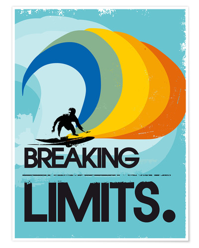 Póster Surfero, Breaking limits