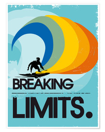 Póster  Surfero, Breaking limits - 2ToastDesign