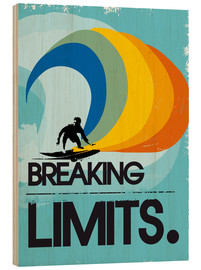 Cuadro de madera  Surfero, Breaking limits - 2ToastDesign