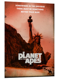 Cuadro de PVC  Planet of the Apes retro style movie inspired - 2ToastDesign