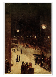 Póster  Road at night - Lesser Ury