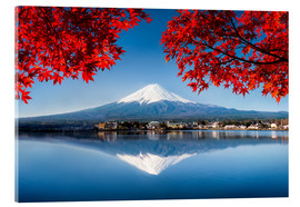 Metacrilato  Mount Fuji at the lake Kawaguchiko in Japan - Jan Christopher Becke