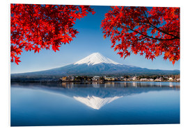 Cuadro de PVC  Mount Fuji at the lake Kawaguchiko in Japan - Jan Christopher Becke