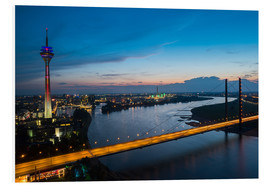 Cuadro de PVC  Dusseldorf Skyline at night - rclassen