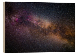 Cuadro de madera  Milky Way - The starry sky - Benjamin Butschell