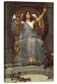 Lienzo  Circe, con el caparazón de Ulises - John William Waterhouse
