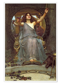 Póster  Circe, con el caparazón de Ulises - John William Waterhouse