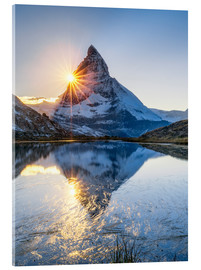 Cuadro de metacrilato  Riffelsee and Matterhorn in the Swiss Alps - Jan Christopher Becke