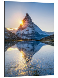 Cuadro de aluminio  Riffelsee and Matterhorn in the Swiss Alps - Jan Christopher Becke