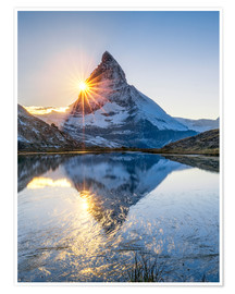 Póster  Riffelsee and Matterhorn in the Swiss Alps - Jan Christopher Becke