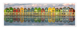 Póster  The colorful houses of Houten   Netherlands - Sabine Wagner