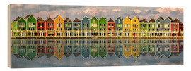 Cuadro de madera  The colorful houses of Houten   Netherlands - Sabine Wagner