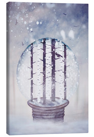 Lienzo  Snowglobe with birch trees and raven - Sybille Sterk