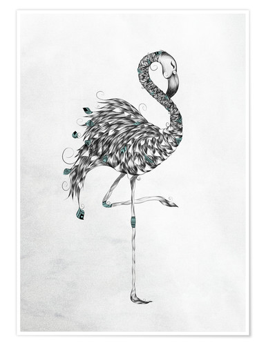Póster Poetic Flamingo