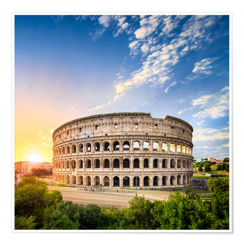 Póster The Colosseum in Rome, Italy
