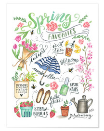 Póster  Spring Favourites - Lily & Val