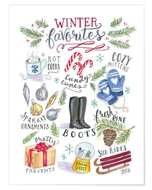 Póster  winter Favourites - Lily & Val