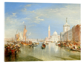 Metacrilato  Venice: The Dogana and San Giorgio Maggiore - Joseph Mallord William Turner