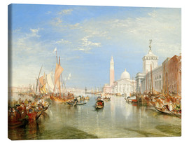 Lienzo  Venice: The Dogana and San Giorgio Maggiore - Joseph Mallord William Turner