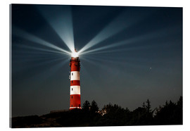 Cuadro de metacrilato  Lighthouse night on Amrum - Oliver Henze