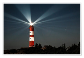 Póster  Lighthouse night on Amrum - Oliver Henze