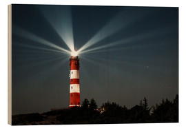 Cuadro de madera  Lighthouse night on Amrum - Oliver Henze