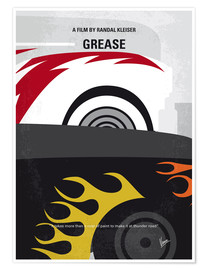Póster My GREASE minimal movie poster