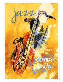 Póster  jazz comes back - colosseum