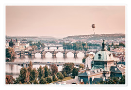 Philipp Dase - Balloon over the bridges of Prague