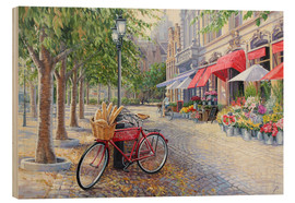 Cuadro de madera  Bicyclettes a Bruges - Paul Simmons