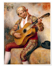 Póster  The Spanish Guitarist - Pierre-Auguste Renoir