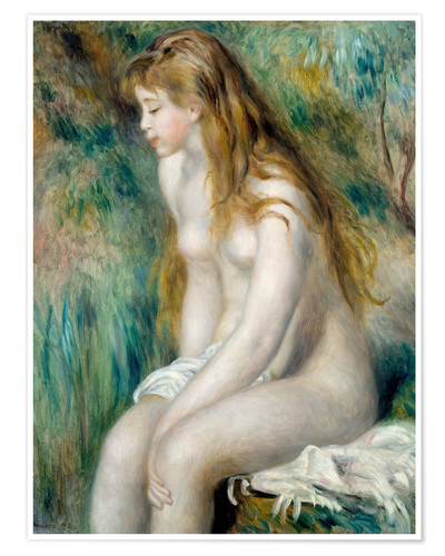 Póster bather with blonde hair