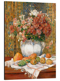 Cuadro de aluminio  Still Life with Flowers and Prickly Pears - Pierre-Auguste Renoir