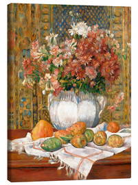 Lienzo  Still Life with Flowers and Prickly Pears - Pierre-Auguste Renoir