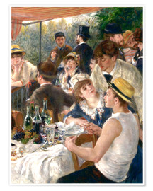 Pierre-Auguste Renoir - Luncheon of the Boating (Detail)